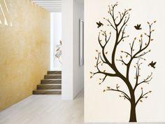 Zweifarbiger Wandtattoo Baum zur dekorativen Gestaltung von großen Wandflächen. #Wanddekoration #Bäume