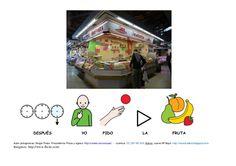 DESPUÉS                                  YO                PIDO                               LA                       FRU... Messages, Activities, Shopping, Pictogram, Tents, Text Posts