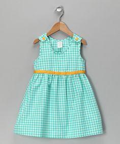 Blue &amp- Yellow Gingham Bow Dress - Toddler &amp- Girls - Girls- Look at ...