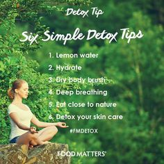 Have you tried these super simple detox tips?   www.foodmatters.com #foodmatters #detox #fmdetox #detoxtip