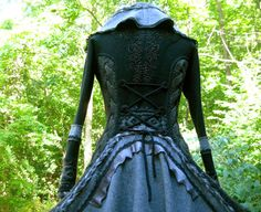 Custom coat for Jacqueline. Corset style sweater coat with beaded appliqué. 50 shades of grey. from Amberstudios ...Etsy