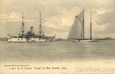 U.S. Cruiser Texas at New London, Conn Connecticut