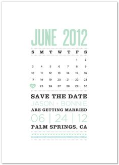 cute save the date- has coordinating invitation/menu set
