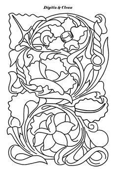 Leather Carving, Leather Tooling, Leather Working Patterns, Scroll Pattern, Leather Pattern, Diy Accessories, Colouring Pages, Leather Craft, Flower Patterns