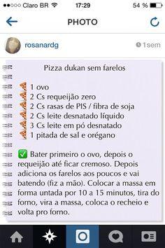 Pizza Dukan Sem Farelos - Dieta Dukan
