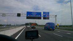 motorway|netherlands Motorway Signs, Netherlands, Neon, Blue, The Nederlands, The Netherlands, Neon Colors, Holland, Neon Tetra