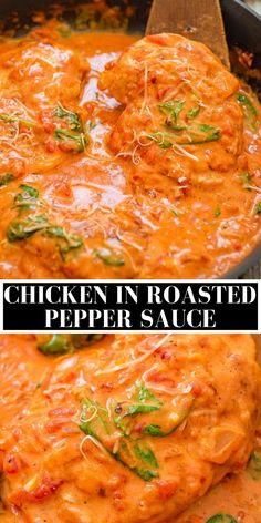 Chicken in Roasted Pepper Sauce
