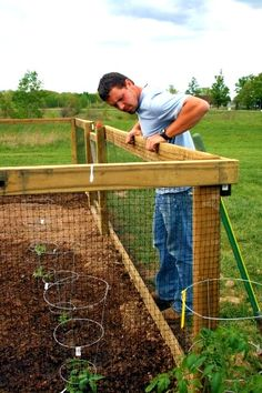 Small animal Fencing, great idea for a garden! Keep all those critters out!
