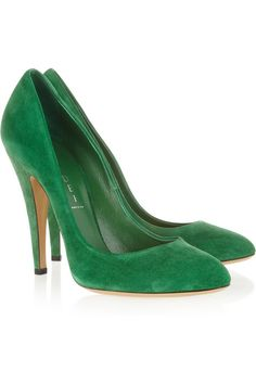 Casadei Suede pumps - I'm green with envy...