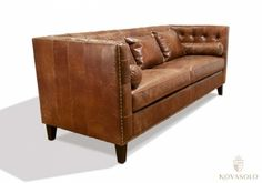 Spisestue - Eksklusiv Old Amsterdam spisesofa i vintage skinn - Hurtig levering! Chesterfield Chair, Amsterdam, Accent Chairs, Couch, Furniture, Vintage, Home Decor, Kitchen, Upholstered Chairs