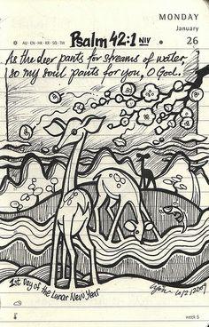 Bible verse art journal inspiration