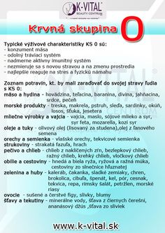krvná skupina 0 How To Lose Weight Fast, Life Is Good, Health Care, Food And Drink, Health Fitness, Healthy Recipes, Eat, Sport, Medicine
