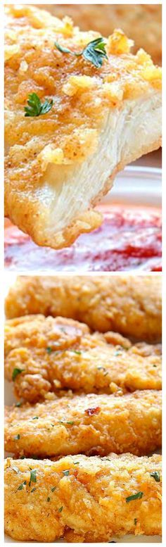 The Best Oven Fried Chicken ~ Crispy on the outside and tender on the inside, and baked right in the oven for easy cleanup.