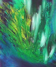 Zmaragdus, Acryl auf Leinwand, D001, 30x24