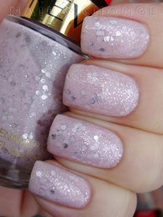Starry Pink by Revlon:  Pale pink base with silver hex & micro glitter. NEW $3.00