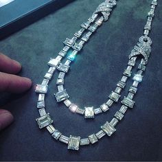 Instagram media by pavoneboutique - @Cartier  Art Deco Diamond Necklace, weighing approximately 75.00 carats, c.1925  Follow us on Twitter & tumblr  #cartier #jewelry #diamonds #diamondnecklace #queen #king #artdeco #harrywinston #tiffanyandco #graff #debeers #chopard #billionaire #vancleef #diamondring #masterpiece #luxury #bridal #wedding #engagement #vintage #newyork #dubai #uae #paris #london #love #pavone