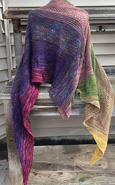 Find Your Fade by Andrea Mowry | malabrigo Soco in Arco Iris, Ivy, Ochre and Primavera and Other yarns