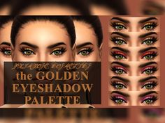 The Gold Eyeshadow Palette by PrimroseSmith at TSR • Sims 4 Updates