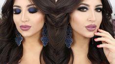 ♡ Kim Kardashian Blue Smokey Eyes ♡ Inspired Make Up Tutorial | Melissa ...
