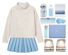 """Untitled #87"" by roxeyturner ❤ liked on Polyvore featuring Converse, Monki, CLEAN and Eos"