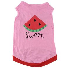 Sweet Kitty Pink Cat Shirt Costume with Watermelon in Pink
