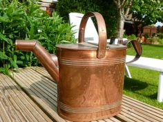 Large Vintage Copper Watering Can Size 8 ( one gallon) Ebay