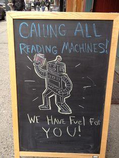 Bookish chalkboard!