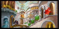 Nova galeria de Angry Birds Movie, com artes de Yashar Kassai | THECAB - The Concept Art Blog
