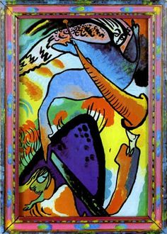 wassily kandinsky biography | Painter Wassily Kandinsky. Painting. Angel of the Last Judgment. 1911 ...