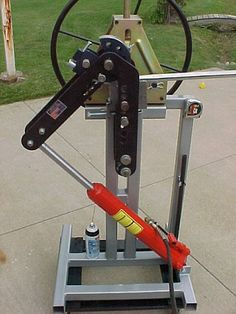 Air/hydraulic bender frame - JD2 tubing bender + HF tubing roller - The Garage Journal Board