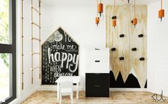 Wystrój wnętrz - Pokój dziecka ze strefą zabawy - pomysły na aranżacje. Projekty, które stanowią prawdziwe inspiracje dla każdego, dla kogo liczy się dobry design, oryginalny styl i nieprzeciętne rozwiązania w nowoczesnym projektowaniu i dekorowaniu wnętrz. Obejrzyj zdjęcia!