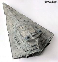 Star Wars: Imperial Star Destroyer - Giant by Ingo Siemon Star Wars Ships, Star Wars Art, Alien Ridley Scott, Nave Star Wars, Star Wars Spaceships, Star Wars Vehicles, Imperial Army, Star Wars Models, Star Destroyer
