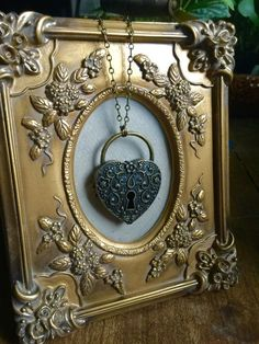 Antique Heart Padlock Brass Aromatherapy by LeCirqueMinuit on Etsy