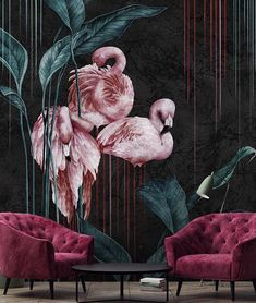 Tapeten fototapetеn fototapety tapety murals papier-peint wallpapers — - My Website 2020 Unique Wallpaper, Love Wallpaper, Art Deco Bedroom, Bedroom Decor, Decor Room, Nursery Decor, Small Bathroom Paint Colors, Wall Painting Decor, Wall Art