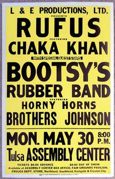 Rufus with Chaka Khan and Bootsy's Rubber Band  - Tulsa May 30.1977