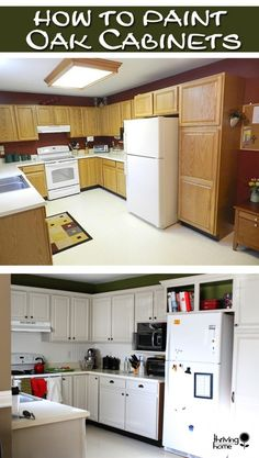 How to paint oak cabinets the RIGHT way. A surprisingly cheap DIY project that makes a HUGE difference.