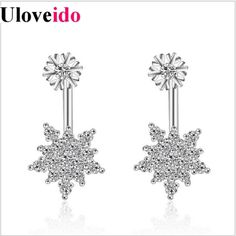 ~ Snowflake Earrings ~ Rose Gold ~-BeauBlue Boutique