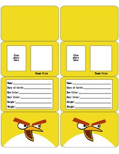 Angry Bird ID Card .... free to use & free to share <3 | Angry ...