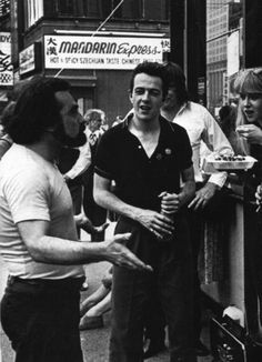 Joe Strummer and Martin Scorsese in NYC, 1981.