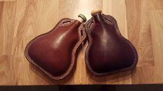 $60 Medium handmade leather bottle (500-600ml)