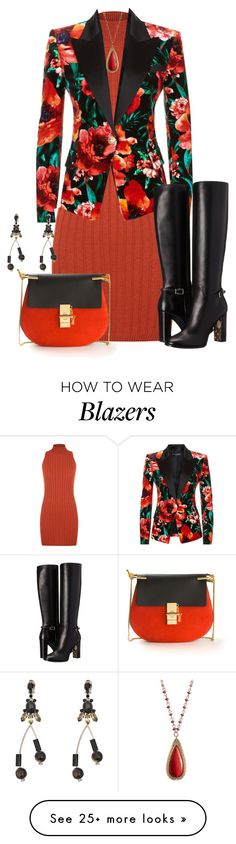 """""""RED"""" by kim-coffey-harlow on Polyvore featuring WearAll, Balmain, Burberry, Chloé, Marni and Chaps"""