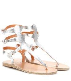 Ancient Greek Sandals - Sandalen Themis aus Metallic-Leder - mytheresa.com GmbH