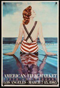 7x315 AMERICAN FILM MARKET FIFTH ANNIVERSARY heavy stock film festival poster '85 cool image!