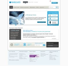Barclays - Page d'accueil claire #banque #webdesign #website #banking #inspiration