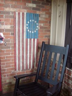 American flag I made from old tobacco sticks.