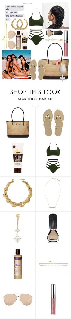 """XOXO"" by azariaaaaaa ❤ liked on Polyvore featuring Dorothy Perkins, Havaianas, Disney, Lavanila, BP., Gioelli, Oribe, Carol's Daughter, Linda Farrow and Chantecaille"