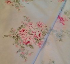 Rachel Ashwell Shabby Chic TM Bella Rose Blue Fabric Yard Wing