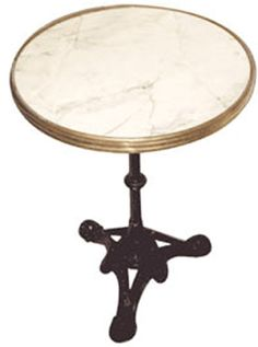 french bistro table black or white marble finish by wa hoo designs