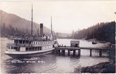 Photo postcard of the S. Joan at Fulford Harbour, Saltspring Island circa America And Canada, North America, Photo Postcards, Vintage Postcards, Emily Carr, Canadian Pacific Railway, Boat Plans, Vancouver Island, British Columbia