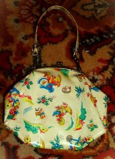 Vintage USSR Child's Vinyl Purse
